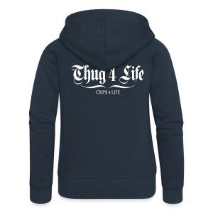 Veste à capuche femme thug 4 life crips 4 life - Veste à capuche Premium Femme