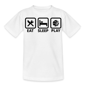 Eat,Sleep,Play - Teenage T-shirt