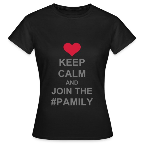 Women's T-Shirt - Gray text (you choose the colour of your shirt).