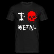 T-Shirts ~ Men's T-Shirt ~ I Love Metal T-Shirt