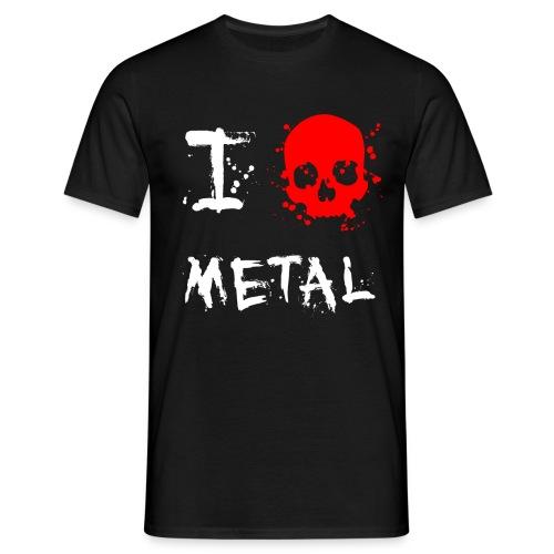 I Love Metal T-Shirt - Men's T-Shirt