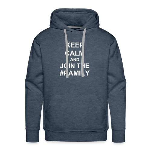 Men's Premium Hoodie - White text (you choose the colour of your shirt).