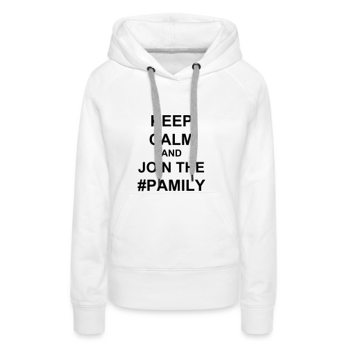 Women's Premium Hoodie - Black text (you choose the colour of your shirt).