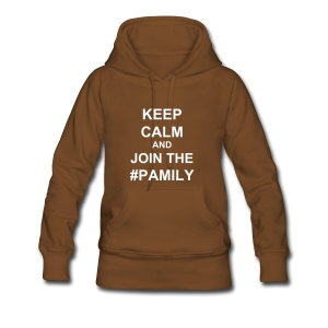Women's Premium Hoodie - White text (you choose the colour of your shirt).