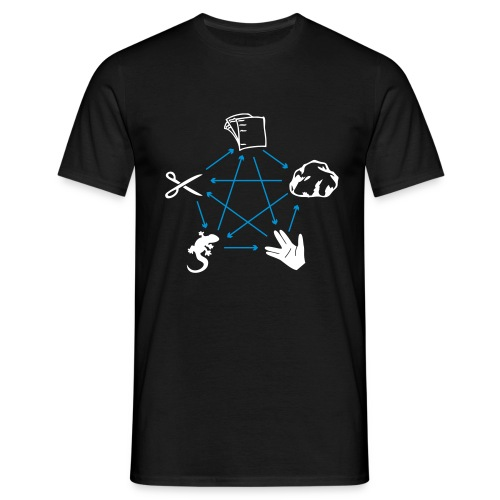 Rock-Paper-Scissors-Lizard-Spock Spielregeln - Men's T-Shirt
