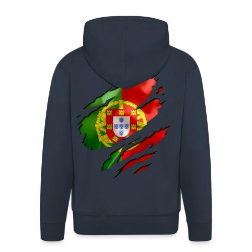 veste portugal - Veste à capuche Premium Homme
