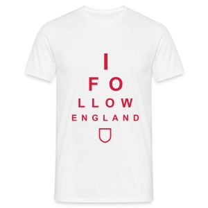 I Follow England - Eye Test (Red) - Men's T-Shirt
