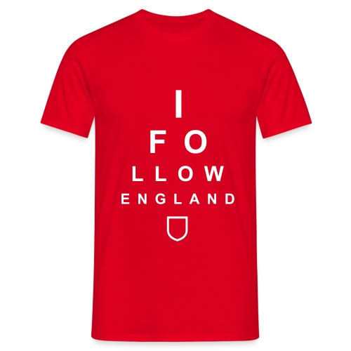 I Follow England - Eye Test (White) - Men's T-Shirt