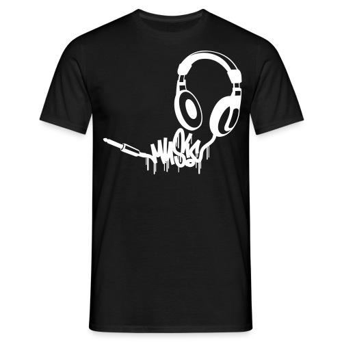 Kopfhoerer Music Schirt - Weiß - Männer T-Shirt