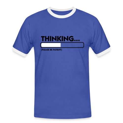 ;) - Kontrast-T-skjorte for menn