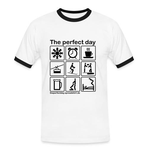 Ski - Männer Kontrast-T-Shirt
