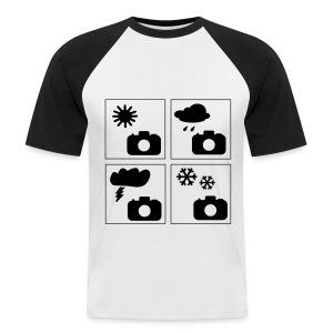 Männer Baseball-Shirt Kurzarm Foto-Wetter - Männer Baseball-T-Shirt