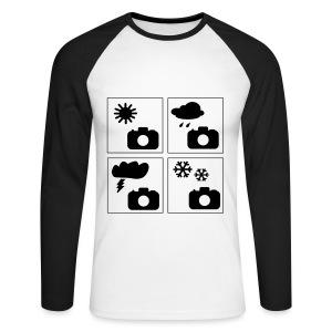 Männer Baseball-Shirt Langarm Foto-Wetter - Männer Baseballshirt langarm