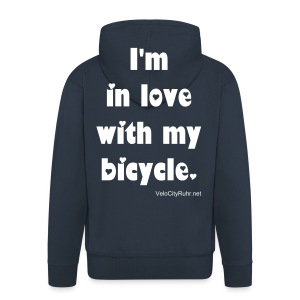 Velo Love - I'm in love with my bicycle (men) - Männer Premium Kapuzenjacke