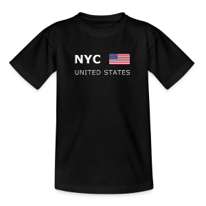 Teenager T-Shirt  NYC UNITED STATES white-lettered - Teenage T-shirt