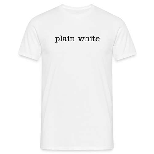Plain white - Mannen T-shirt