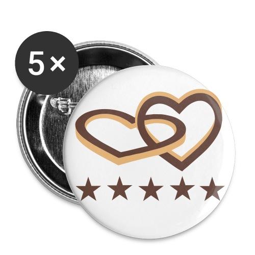 leuke buttons voor trouwdag! - Buttons groot 56 mm
