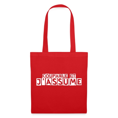 Cabas Coupable Rouge - Tote Bag