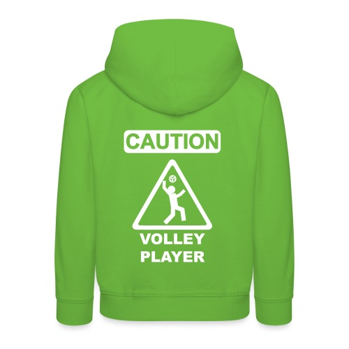 Caution Volleyplayer - Kinder Premium Hoodie