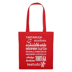 Stofftasche mit Motiv Schildkröte - Stoffbeutel