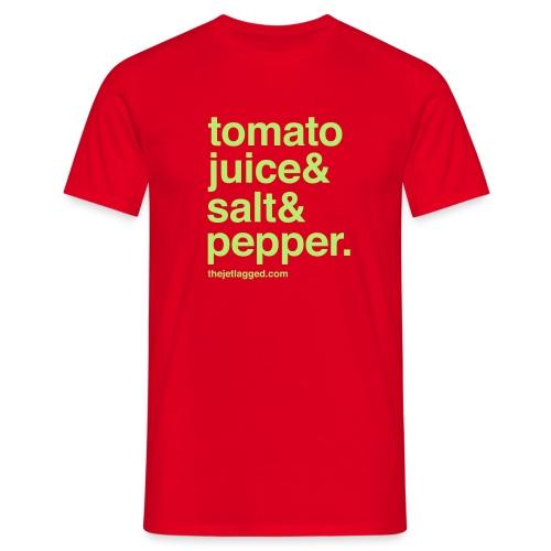 Tomato juice & Salt & Pepper - Männer T-Shirt