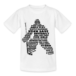 Ice Hockey Goalie Typography Teenager T-Shirt - Teenage T-shirt