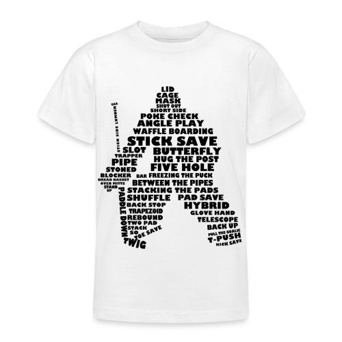 Ice Hockey Goalie Typography Teenager T-Shirt - Teenage T-Shirt