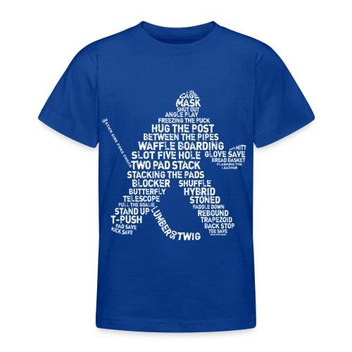 Hockey Goalie Typography Teenager T-Shirt  - Teenage T-shirt