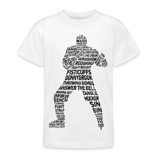 Hockey Enforcer Classic Teenager T-Shirt  - Teenage T-Shirt