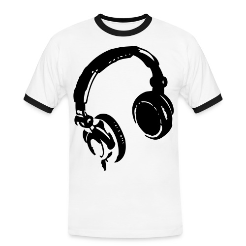 Kopfhörer - Männer Kontrast-T-Shirt