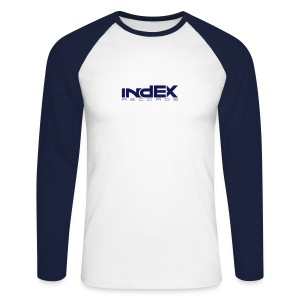 indEX Records label long-shirt - Männer Baseballshirt langarm