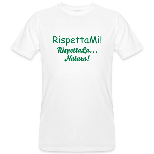 Respect Nature v1 - T-shirt ecologica da uomo