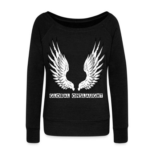 Angels of the Onslaught - Women's Boat Neck Long Sleeve Top