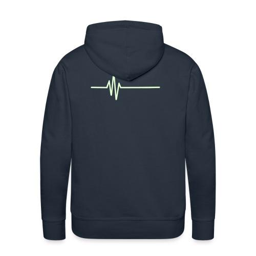 The GAG glow in the dark front n back hoodie - Men's Premium Hoodie