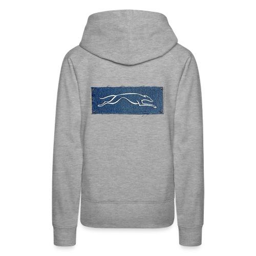Lévrier stylisé. D'Jin - Sweat-shirt à capuche Premium pour femmes