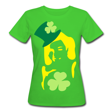 Irish girl shamrock  hat st.patrick's day Women's Slim Fit Earth Positive T-Shirt