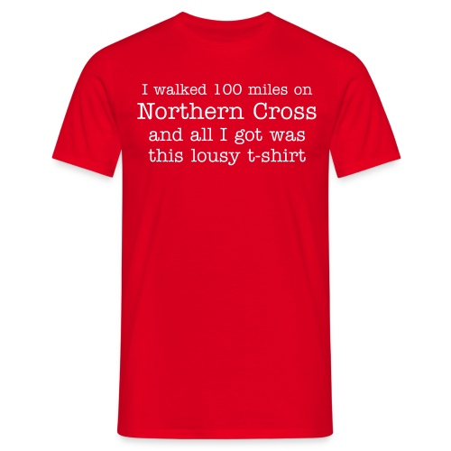Men's Classic Lousy T-shirt - 100 miles text / web on back - Men's T-Shirt