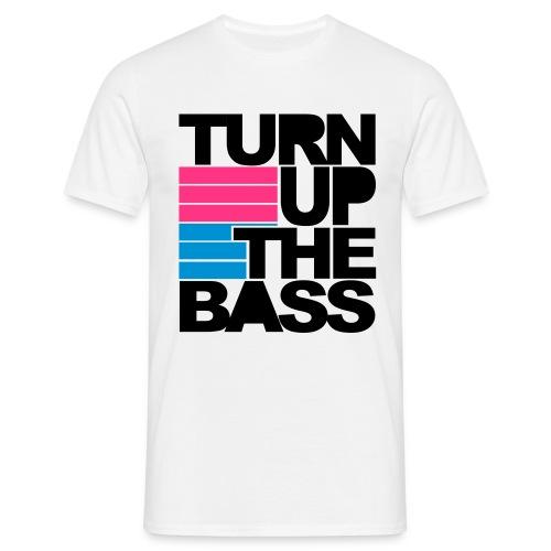 Mannen T-shirt - Turn up the bass - Mannen T-shirt
