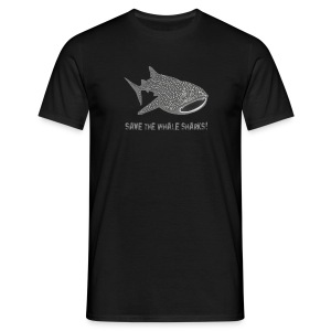 tiershirt walhai wal hai fisch whale shark taucher tauchen diver diving naturschutz endangered species - Männer T-Shirt