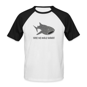 tiershirt walhai wal hai fisch whale shark taucher tauchen diver diving naturschutz endangered species - Männer Baseball-T-Shirt