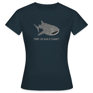 tiershirt walhai wal hai fisch whale shark taucher tauchen diver diving naturschutz endangered species - Frauen T-Shirt