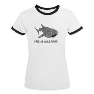 tiershirt walhai wal hai fisch whale shark taucher tauchen diver diving naturschutz endangered species - Frauen Kontrast-T-Shirt
