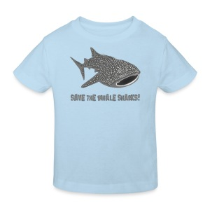 tiershirt walhai wal hai fisch whale shark taucher tauchen diver diving naturschutz endangered species - Kinder Bio-T-Shirt