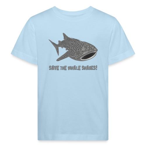 tiershirt walhai wal hai fisch whale shark taucher tauchen diver diving naturschutz endangered species - Kinder Bio-T-Shirt