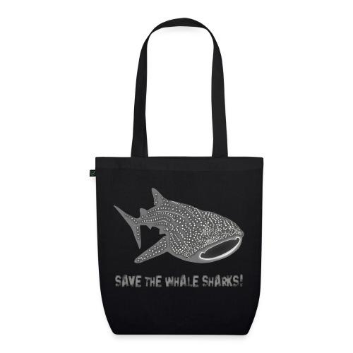 tiershirt walhai wal hai fisch whale shark taucher tauchen diver diving naturschutz endangered species - Bio-Stoffbeutel