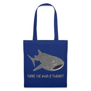 tiershirt walhai wal hai fisch whale shark taucher tauchen diver diving naturschutz endangered species - Stoffbeutel