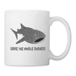 tiershirt walhai wal hai fisch whale shark taucher tauchen diver diving naturschutz endangered species - Tasse