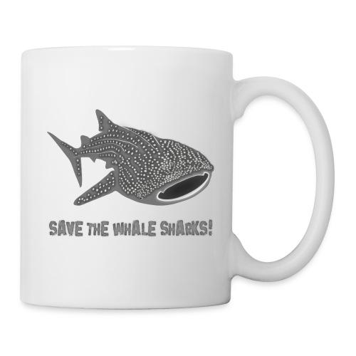 tiershirt walhai wal hai fisch whale shark taucher tauchen diver diving naturschutz endangered species - Tasse