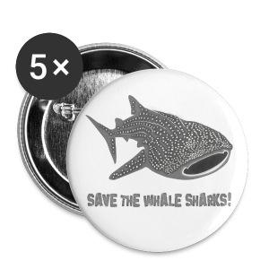 tiershirt walhai wal hai fisch whale shark taucher tauchen diver diving naturschutz endangered species - Buttons groß 56 mm