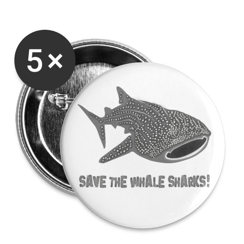 tiershirt walhai wal hai fisch whale shark taucher tauchen diver diving naturschutz endangered species - Buttons groß 56 mm